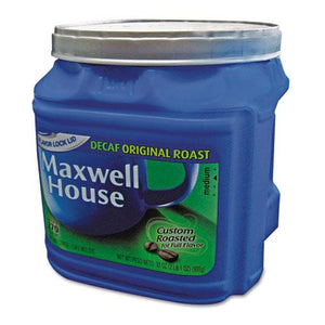 Maxwell House Original Roast Decaffeinated Ground Coffee 34.5oz Can