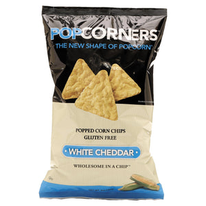 Medora Snacks Popcorners Popped-Corn Chips White Cheddar 12ct