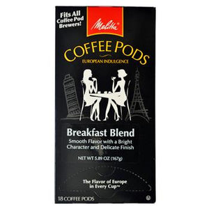 Melitta Coffee Breakfast Blend Coffee Pods 18ct Back