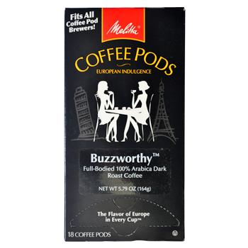 Melitta Coffee Buzzworthy Coffee Pods 18ct Back