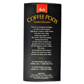 Melitta Coffee Love At First Sip Coffee Pods 18ct Side Right