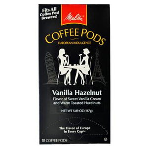 Melitta Coffee Vanilla Hazelnut Coffee Pods 18ct Back