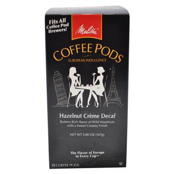 Melitta Hazelnut Creme Decaf Coffee Pods