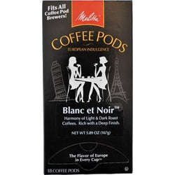 Melitta One:One Blanc Et Noir Coffee Pods 18ct