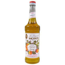 Monin Apricot Syrup 2 750ml 25.4oz Bottles