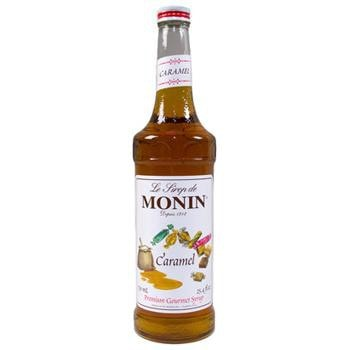 Monin Caramel Syrup 2 750ml 25.4oz Bottles
