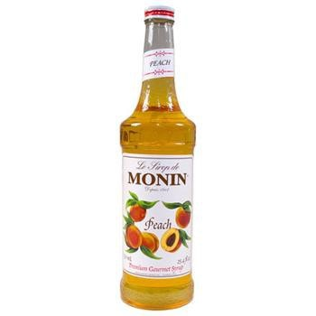 Monin Peach Syrup 2 750ml 25.4oz Bottles