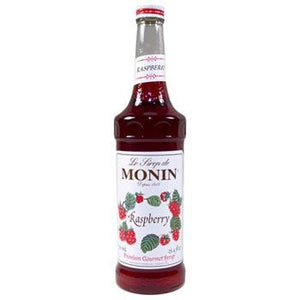 Monin Raspberry Syrup 2 750ml 25.4oz Bottles