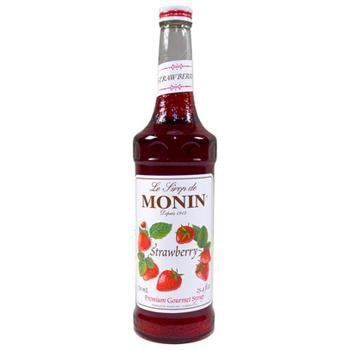 Monin Strawberry Syrup 2 750ml 25.4oz Bottles