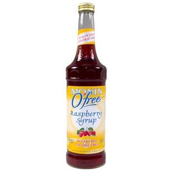Monin Sugar Free Raspberry Syrup 2 750ml 25.4oz Bottles