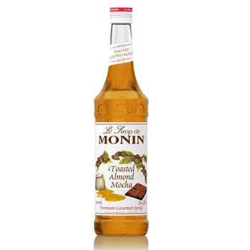 Monin Toasted Almond Mocha Syrup 2 750ml 25.4 oz Bottles
