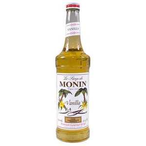 Monin Vanilla Syrup 2 750ml 25.4oz Bottles