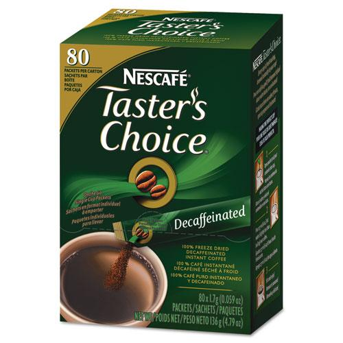 Nescafe Tasters Choice Premium Blend Decaffeinated Coffee Sticks 80ct