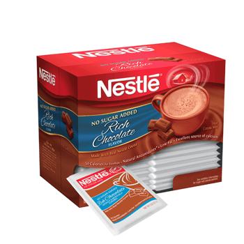 Nestle's No Sugar Added Hot Chocolate Mix 30 Packets
