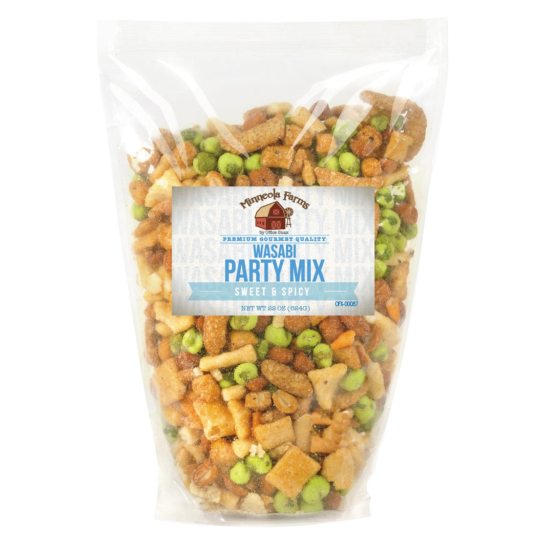 Office Snax All Tyme Favorite Nuts Wasabi Party Mix 22oz Bag
