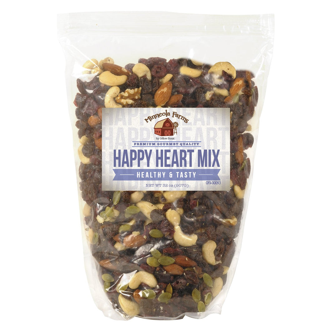 Office Snax All Tyme Favorite Nuts Happy Heart Mix 32oz Bag
