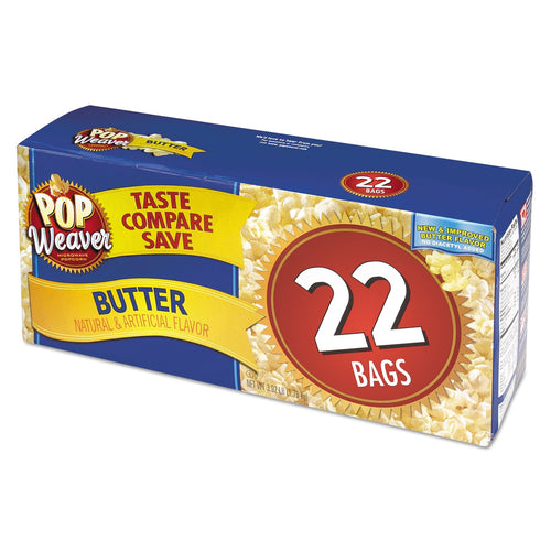 Pop Weaver Microwave Popcorn Butter 22ct