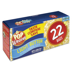 Pop Weaver Microwave Popcorn Light Butter 22ct