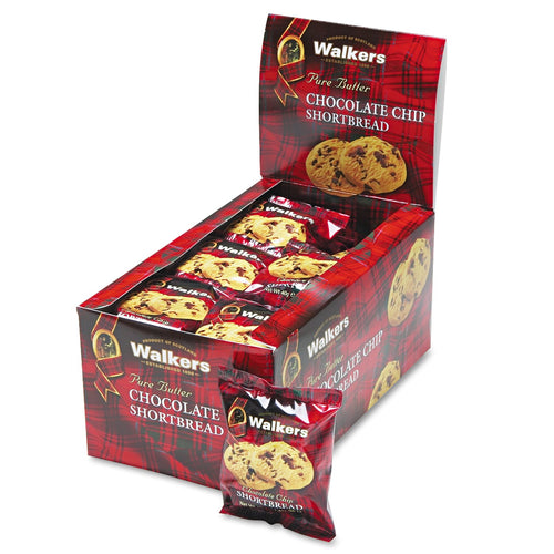 Walkers  Shortbread Cookies Chocolate Chip 2 Cookies per Pack 24 Pack Box
