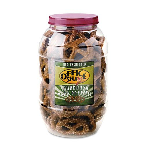 Old Fashioned Giant Dutch Salted Sourdough Twist Pretzels 40oz Canister