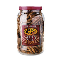 Old Fashioned Salted Giant Pretzel Sticks 22oz Barrel