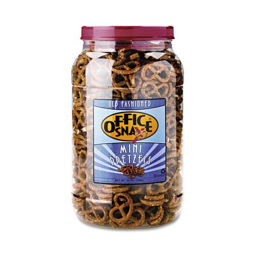 Old Fashioned Salted Mini-Pretzel Twists 24oz Canister
