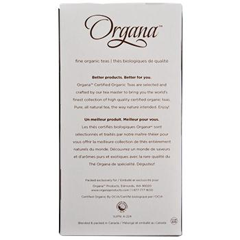 Organa Berry White Tea Pods 18ct Box back