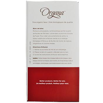 Organa Berry White Tea Pods 18ct Box left side