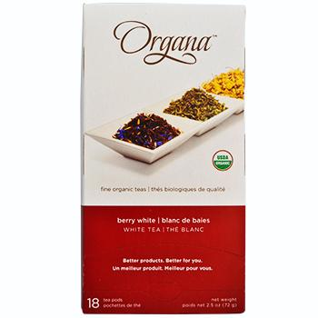 Organa Berry White Tea Pods 18ct Box