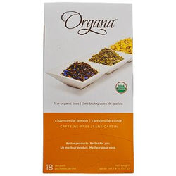 Organa Chamomile Lemon Tea Pods 18ct Box