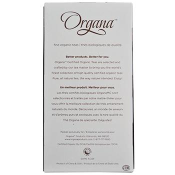 Organa Earl Grey Tea Pods 18ct Box back