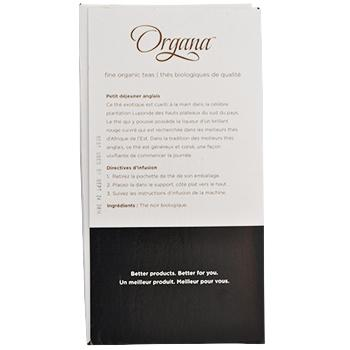 Organa English Breakfast Tea Pods 18ct Box left side