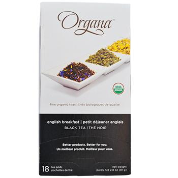 Organa English Breakfast Tea Pods 18ct Box