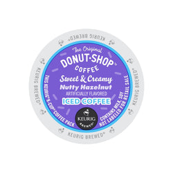 The Original Donut Shop Sweet & Creamy Nutty Hazelnut Iced Coffee K-Cup® Pods 88ct