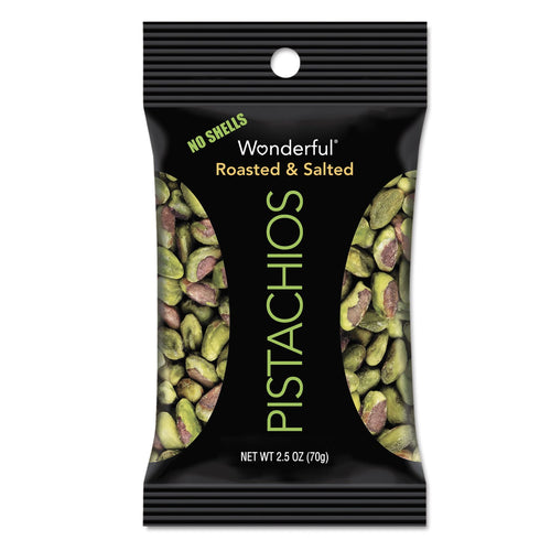 Paramount Farms Wonderful Pistachios Dry Roasted & Salted 2.5oz 8ct