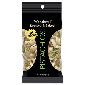 Paramount Farms Wonderful Pistachios Dry Roasted & Salted 5oz 8ct