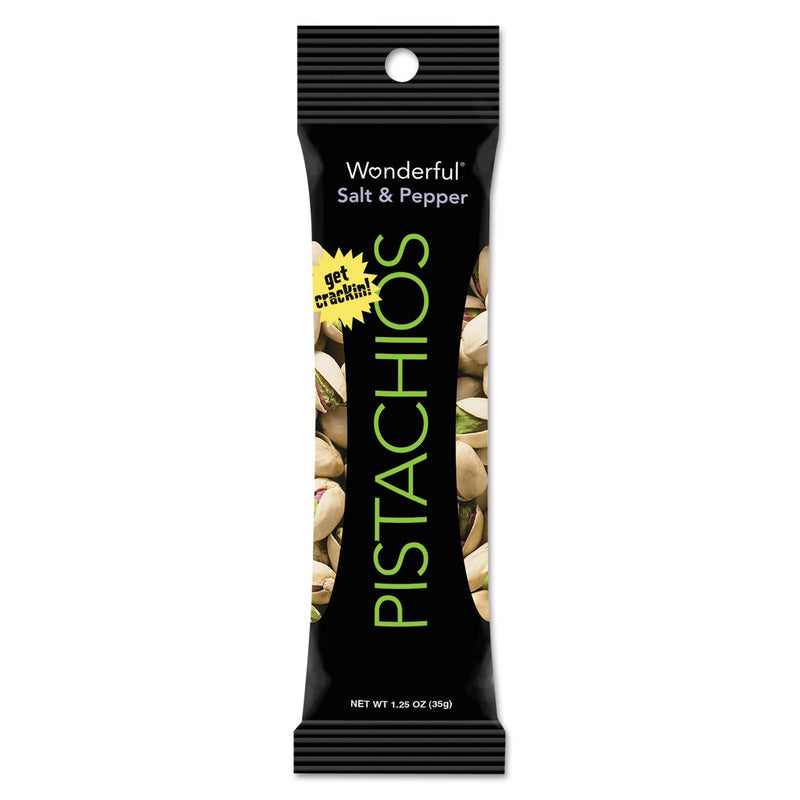 Paramount Farms Wonderful Pistachios Salt & Pepper 1.25oz Pack 12ct
