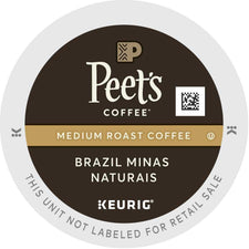 Peet's Coffee Brazil Minas Naturais K-Cups 22ct