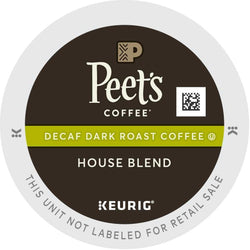 Peet's Coffee Decaf House Blend K-Cups 22ct
