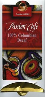 Lacas Coffee Passion Cafe 100% Colombian Decaffeinated Coffee Pods 18ct