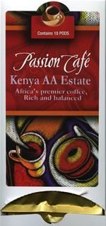 Lacas Passion Cafe Kenya AA Estate Coffee Pods 18ct