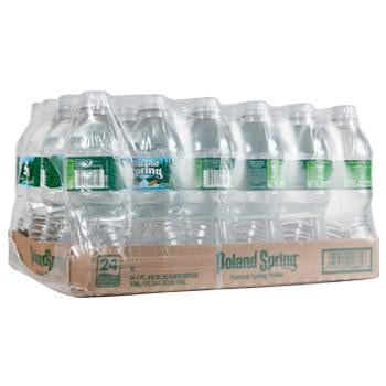 Poland Springs Bottled Water 24 16.9oz Bottles Case Angled