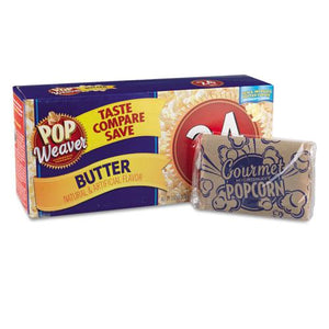 Pop Weaver Butter Flavor Microwave Popcorn 15ct Box