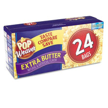 Pop Weaver Extra Butter Flavor Microwave Popcorn 15ct Box