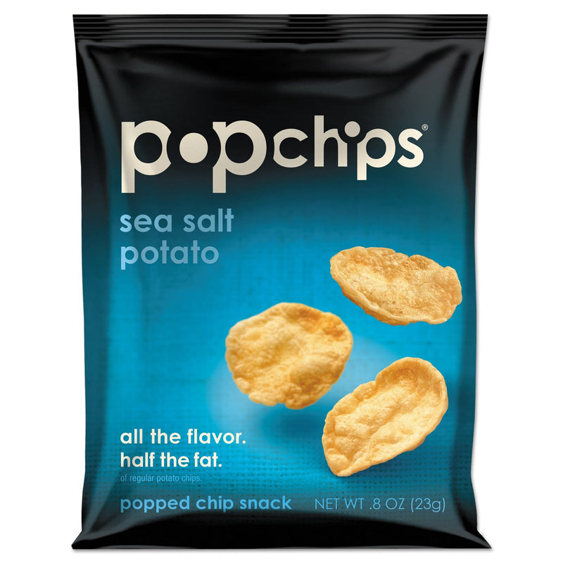 popchips Potato Chips Sea Salt Flavor 24ct