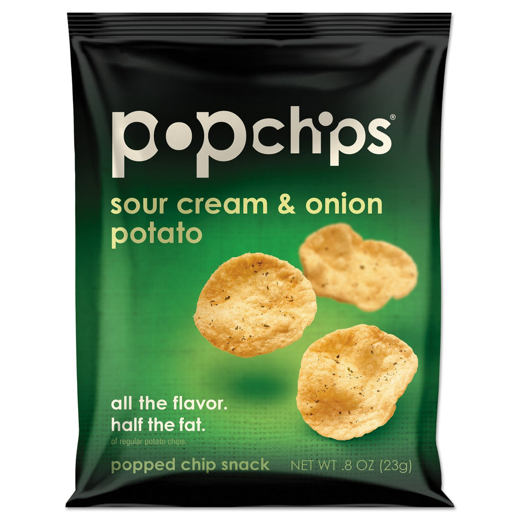 popchips Potato Chips Sour Cream & Onion Flavor 24ct