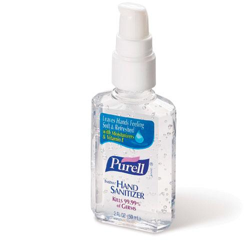 Purell Liquid Hand Sanitizer 2oz Personal Pump Bottles 24ct Case