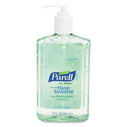 Purell Liquid Instant Hand Sanitizer with Aloe 12oz Pump Bottles 12ct Case