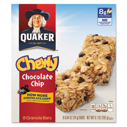 Quaker Granola Bars Chewy Chocolate Chip 8 per Box 12 Boxes
