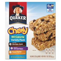 Quaker Granola Bars, Chewy Variety Pack 8 per Box 12 Boxes